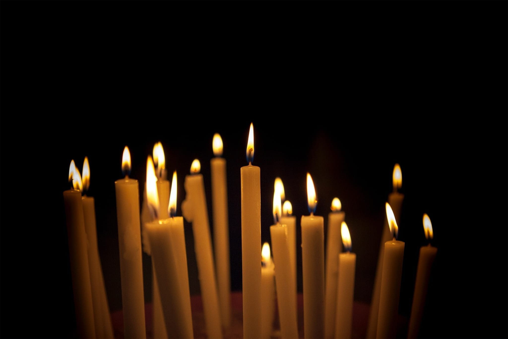 white candle lot