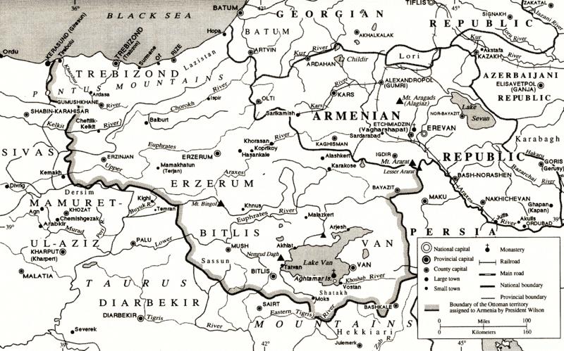 Armenien nach dem Vertrag von Sevres von 1920